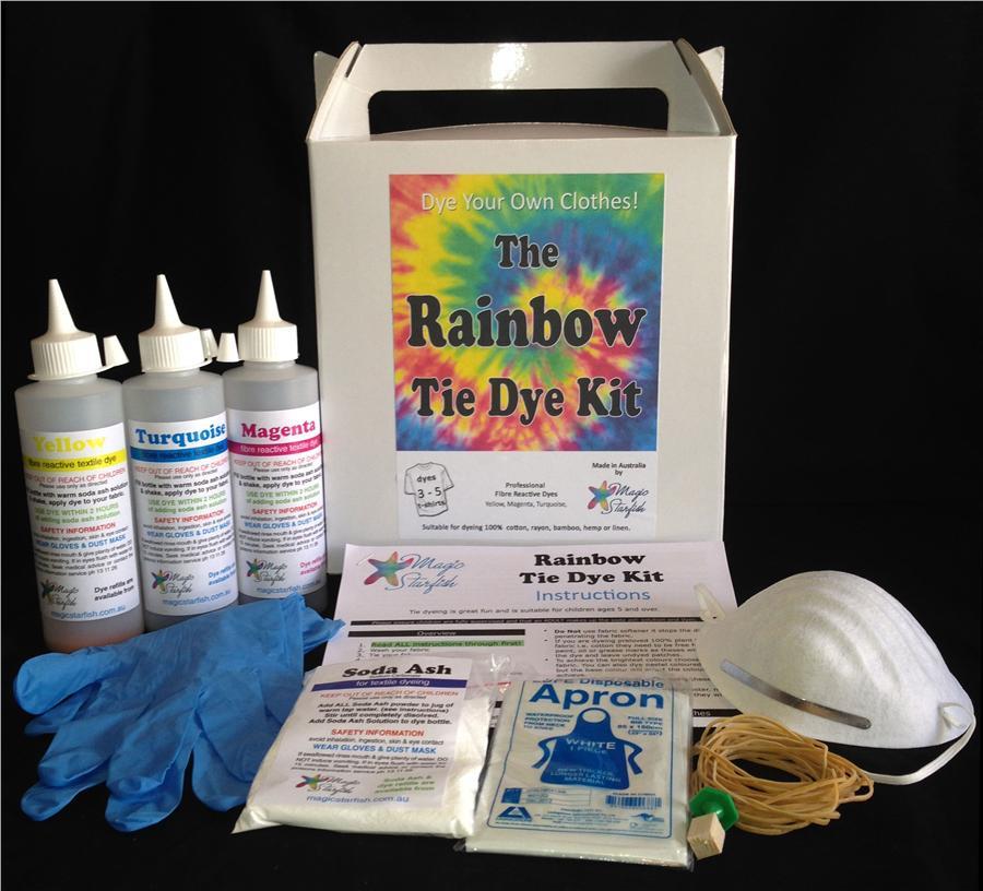 Magic Starfish Rainbow Tie Dye Kit Colour Me Includes T